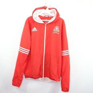 Adidas Mens XL 2017 Boston Marathon Jacket Red